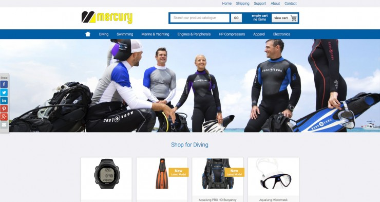 E-commerce  Web Design - www.mercury.com.cy