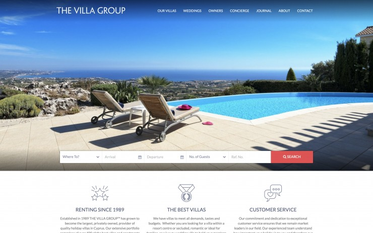 Holiday Rentals Web Design - www.thevillagroup.co.uk