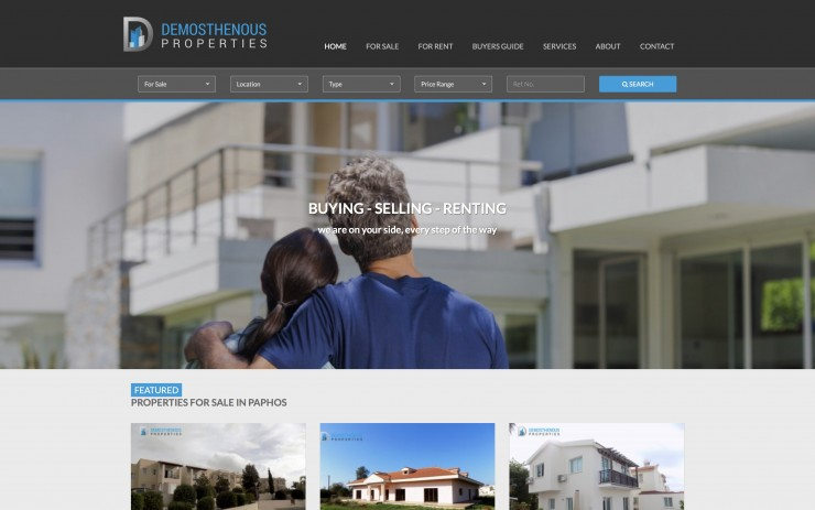 Real Estate Web Design - www.dproperties.com.cy