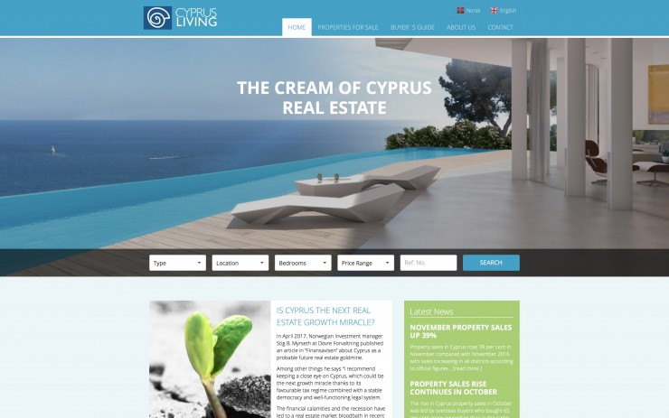 Real Estate Web Design - www.cyprusliving.com
