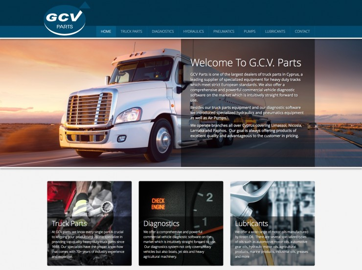Retail & Services Web Design - www.gcv-parts.com