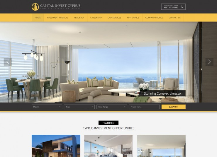 Real Estate Web Design - www.capitalinvestcyprus.com
