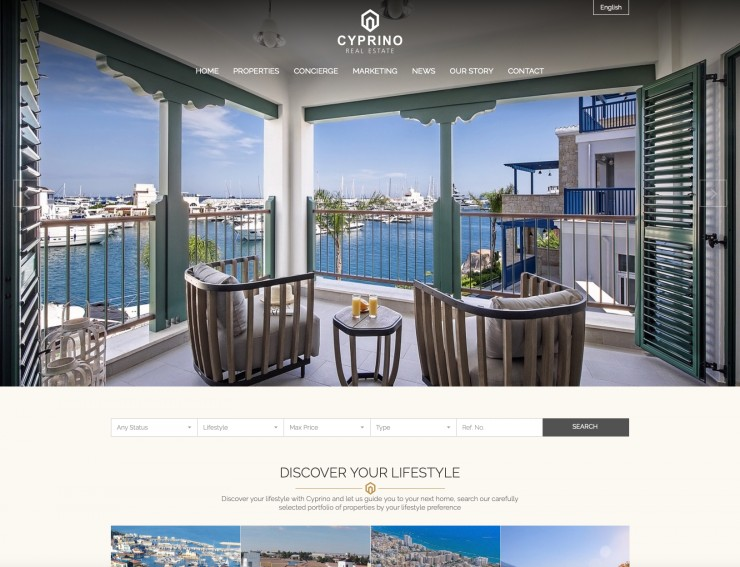 Real Estate Web Design - cyprino.com