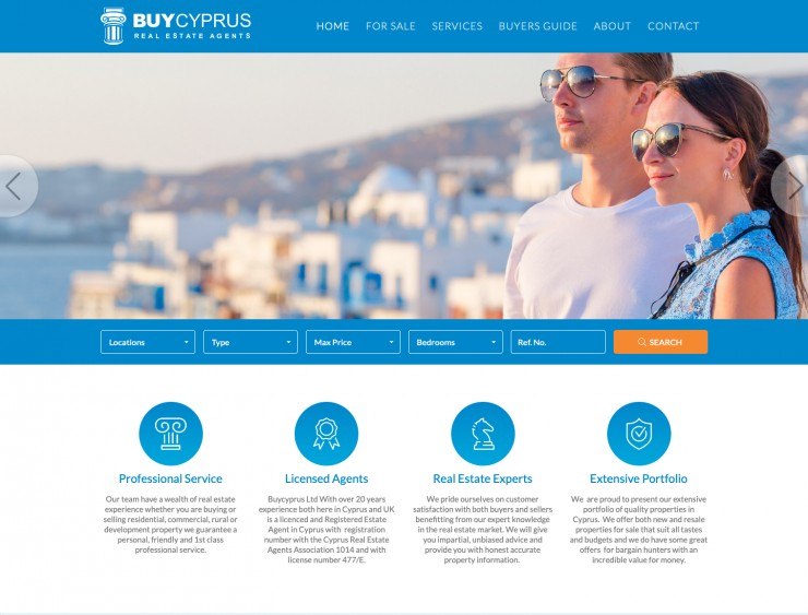 Real Estate Web Design - www.buycyprus.com