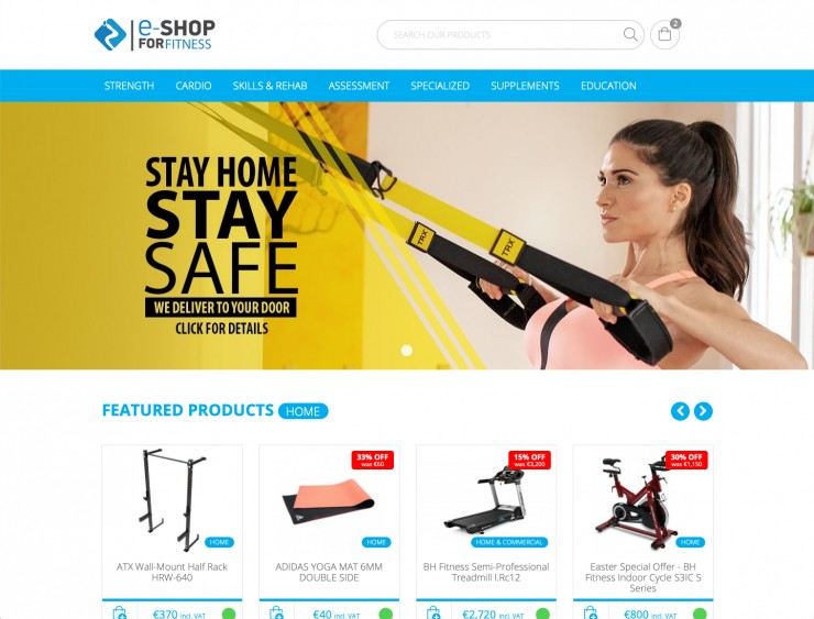 E-commerce  Web Design - www.eshopforfitness.com